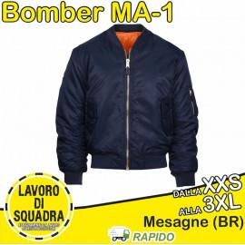 Giubbotto Bomber MA-1 BLU...