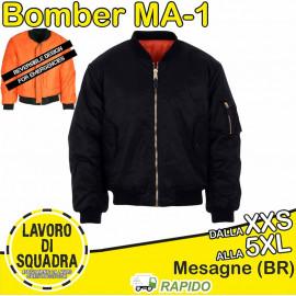 Giubbotto Bomber MA-1 Nero...