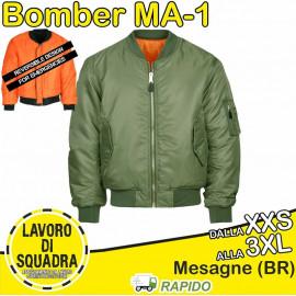 Giubbotto Bomber MA-1 Verde...