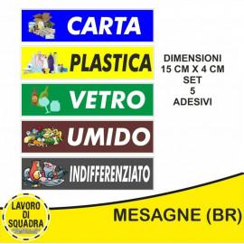 Kit 5 Adesivi PVC Raccolta...