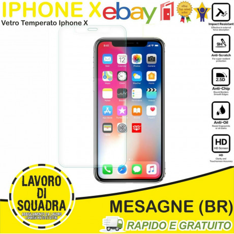 Vetro Temperato Iphone X -...