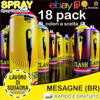CLASH PAINT 18 PACK Colori...