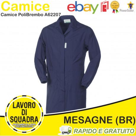 Grembiule Camice Professionale Lavoro Uomo BLU SCURO Popeline A62207 Industriale