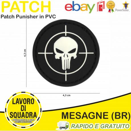 Patch Punisher Tonda Nero PVC 3D - 101inc