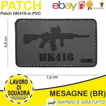 PATCH 3D PVC HK416 GREY -...