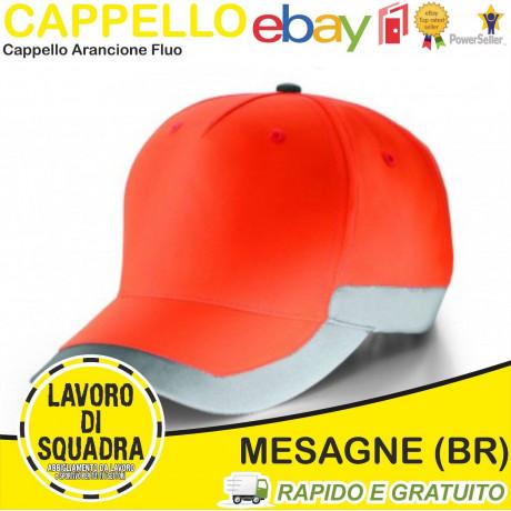 Cappello berretto cappellino Alta Visibilità da lavoro Arancione Fluo