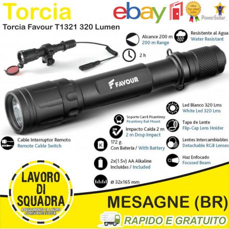 Torcia Led FAVOUR T1321 320...