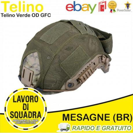 TELINO COPRI ELMETTO FAST RETE Verde OD - GFC Tactical