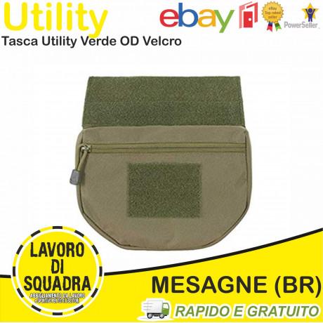 Tasca Utility Verde OD con Velcro Maschio/Femmina per Plate Carrier - 8fields