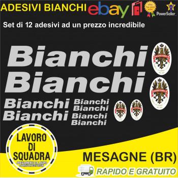 Kit 12 Adesivi Bici Bianchi...