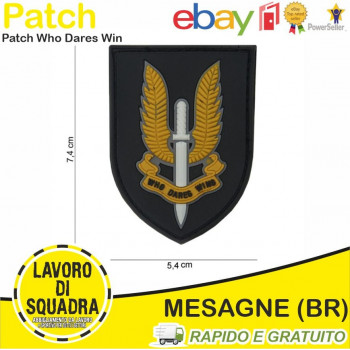Patch in PVC Who Dares Win...