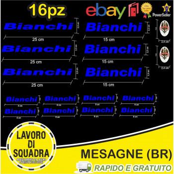 Kit 16 Adesivi Bici Bianchi...