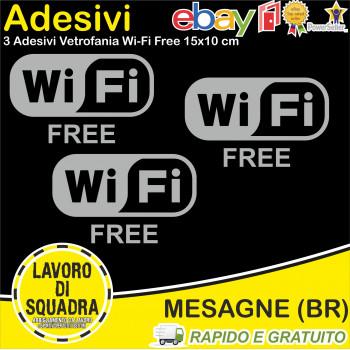 Kit 3 Adesivi Wi-Fi Free...