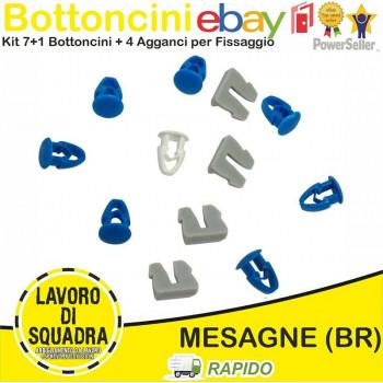 Kit 8 Bottoni + 4 Agganci...