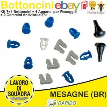 Kit 8 Bottoni + 4 Agganci +...